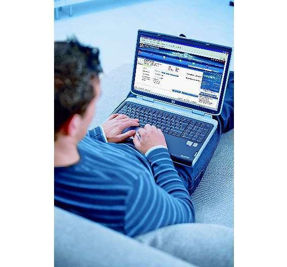 Bild 4: Zugriff auf die Onlineplattform auch per Notebook