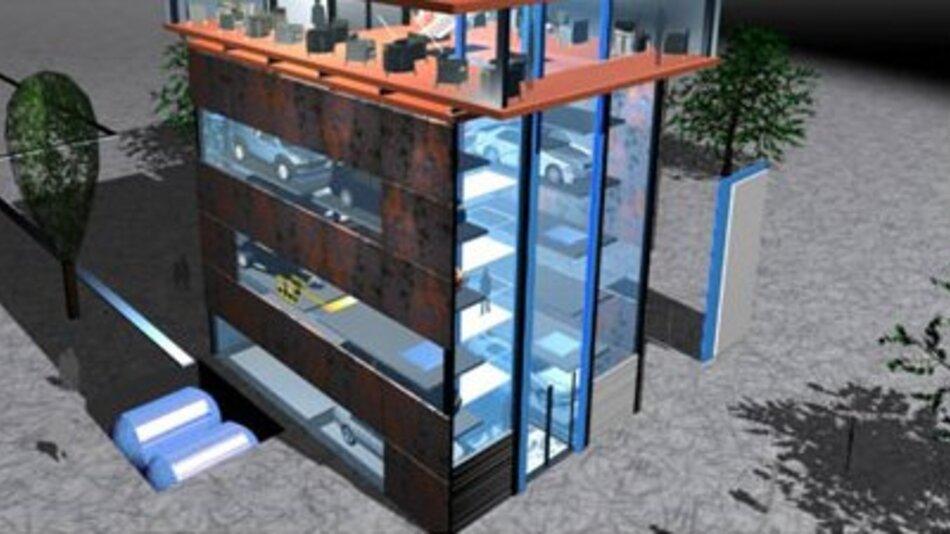 Zukunftsvision: Automatisiertes Parken und Laden.