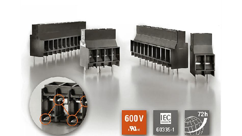 Die Leiterplattenklemmen LL 6.35 bietet einen uneingeschränkten Einsatz bis 600 V