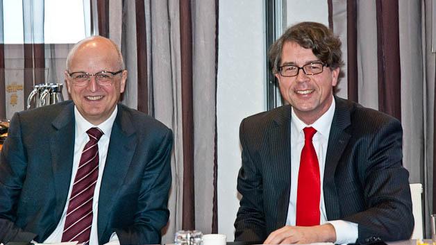 Rolf Schwirz, CEO und Dr. Jürgen Kaiser-Gerwens, Finanzvorstand von Kontron.