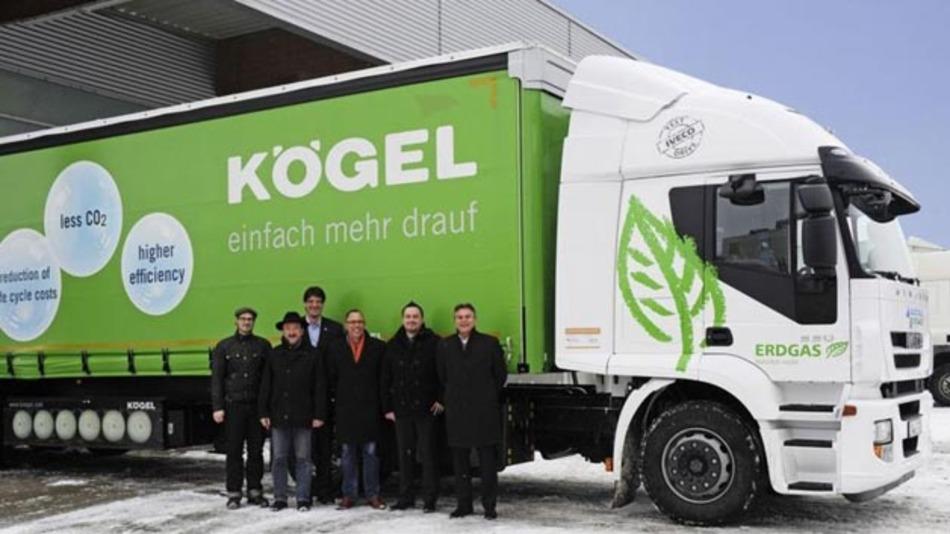 Ein Lkw mit CNG-Erdgas-Antrieb wurde erfolgreich von Dräxlmaier getestet.