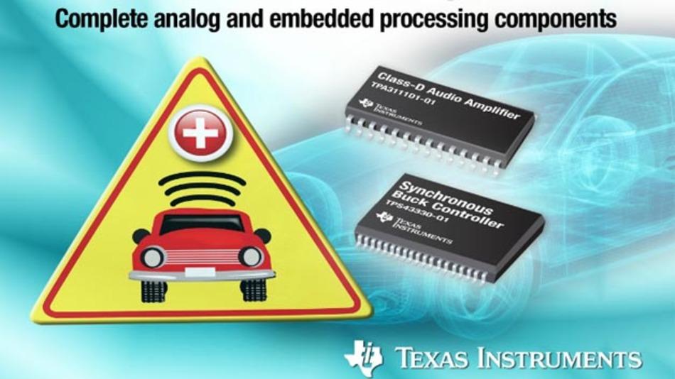 Erleichtert die Entwicklung von eCall-Systemen: das Referenz-Design von Texas Instruments.