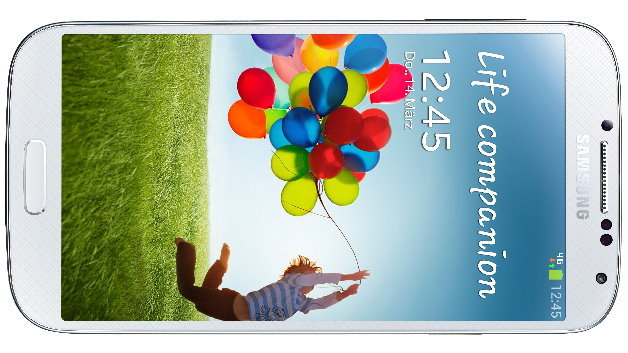 Das neue High-End-Smartphone Galaxy S4 von Samsung hat ein Super-AMOLED-Display mit 1920x1080 Pixeln.
