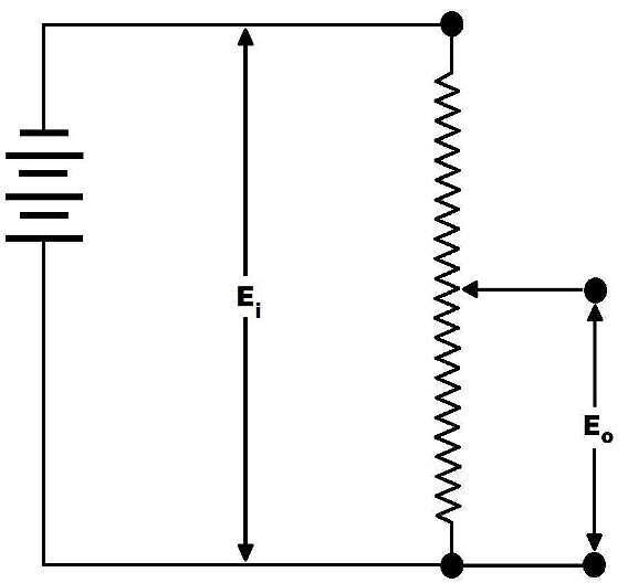 Bild 1: Schematische Darstellung eines Potentiometers