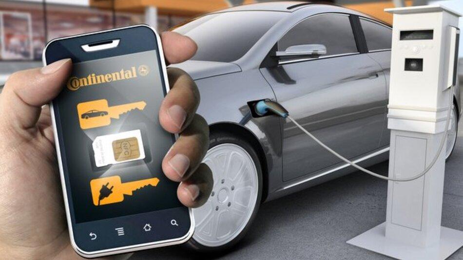 Das Smartphone ersetzt den Schlüssel.