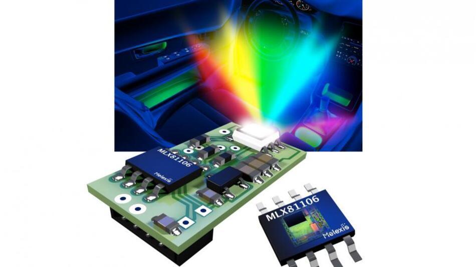 Durch die Kombination von 32 KB Flash-Speicher, LIN Controller, standardgemäßen LIN-Treiber und die einstellbaren Stromquellen für den Betrieb der LEDs lässt sich der Baustein vergleichsweise rasch für die Ansteuerung von RGB-Modulen für die Innenraumbeleuchtung adaptieren.