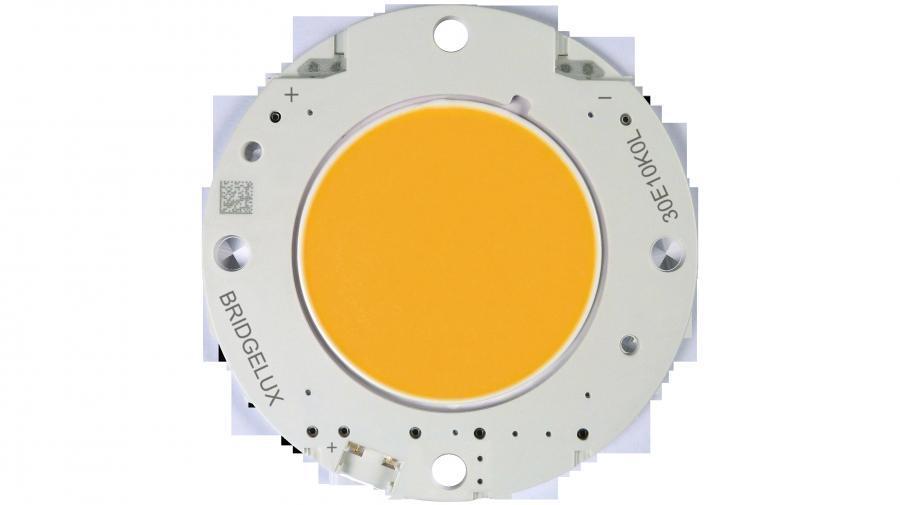 Ein Keramiksubstrat dient als Träger der Vero-Plattform, auf der die LED-Arrays angebracht sind. Die Zuleitungen werden entweder angelötet oder in die Verbinder eingesteckt.