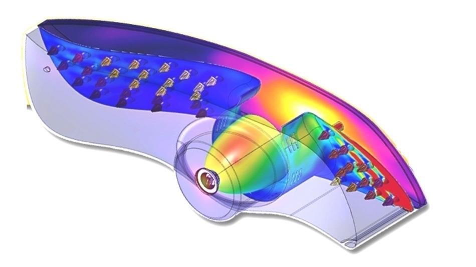 Mit Hilfe der Testeinrichtung T3Ster/TeraLED lassen sich die Kenndaten eines komplexen LED-Autoscheinwerfers ermitteln, die dann die Grundlagen für eine umfassende Simulation der thermischen und lichttechnischen Werte im Betrieb liefern.