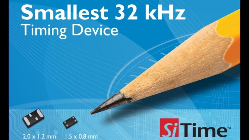 SiT15xx-Serie: Oszillatoren mit 32,768kHz