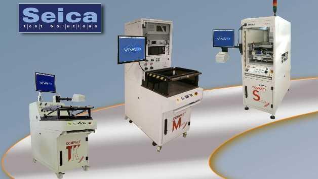 Alle ICT/FKT-Systeme der Compact-Serie von Seica sind hinsichtlich Programmaustausch und Prüfadapter voll kompatibel, so dass eine komplette Portierbarkeit vom manuellen zum automatisierten System und umgekehrt garantiert ist.
