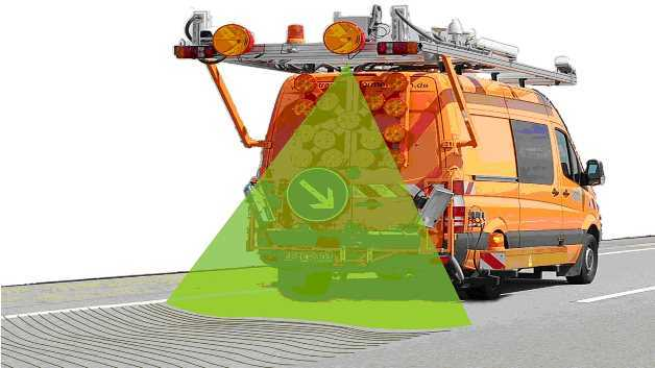 Ein einzelner Laserscanner genügt, um die Ebenheit einer vier Meter breiten Straße mit einem Laserstrahl zu vermessen.