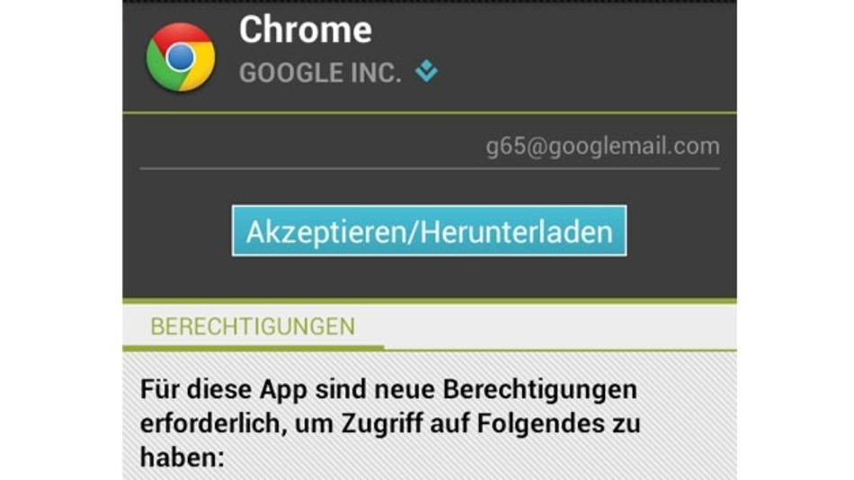 Google Chrome verlangt nicht nur Zugriff auf persönliche Daten, sondern schneidet auch Ton mit.