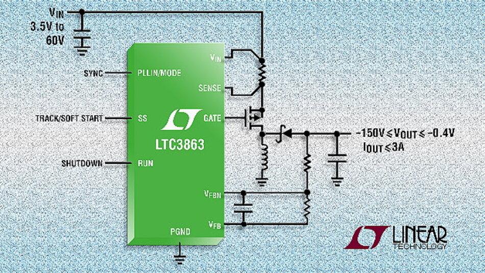 Invertierender 60V-Reglercontroller mit niedrigem IQ