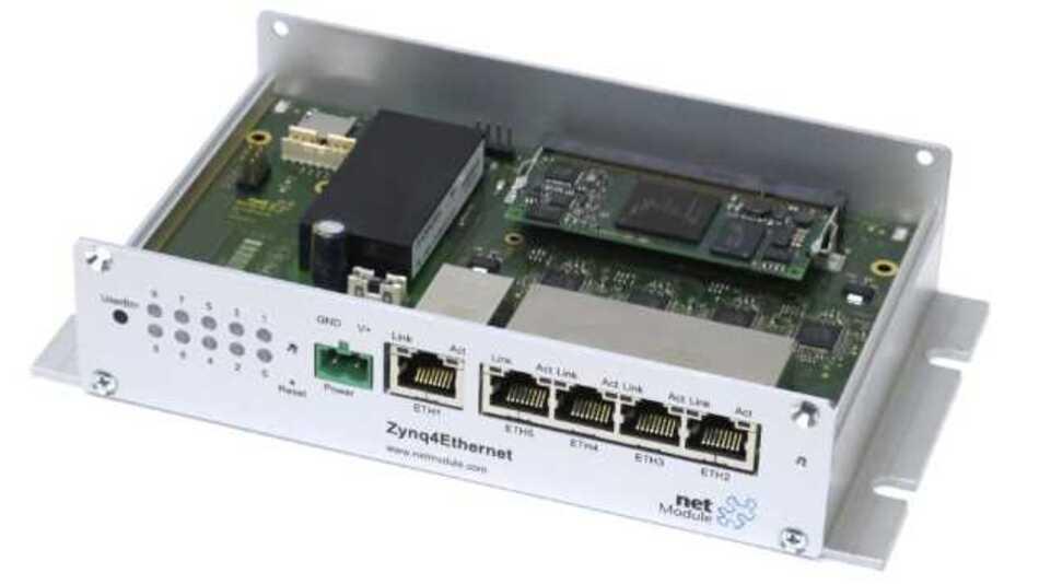 Für die schnelle Implementierung Ethernet-basierter Zynq-Anwendungen konzipiert ist das neue »Zynq4Ethernet«-Evaluierungssystem von NetModule