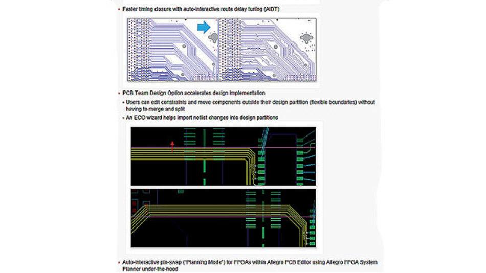 Bild 1. Bei Allegro 16.6 wurde u.a. das Layout von Verbindungsleitungen mit Hilfe der AiDT-Funktionen nochmals verbessert, um unerwünschte Laufzeitunterschiede weitgehend vermeiden zu können.