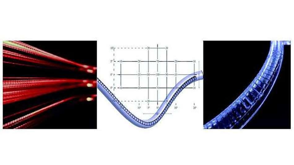Bild 2: Lichtleiter für Rücklicht und Positionslicht mit Kerbenstruktur