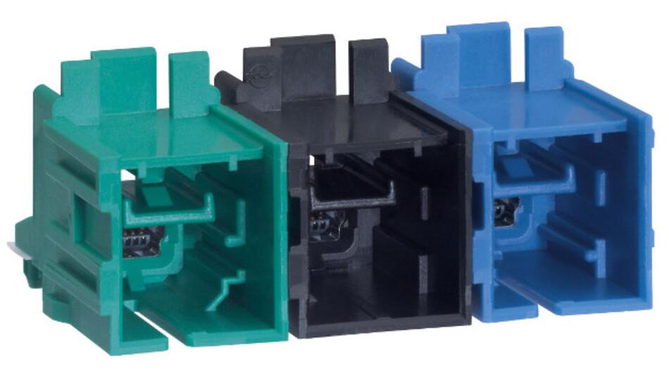 Die HS-Stac-Stecker lassen sich in die vorhandenen HSAutoLink-Kabelkonfektionen einstecken und bilden damit ein komplettes Verbindungssystem.
