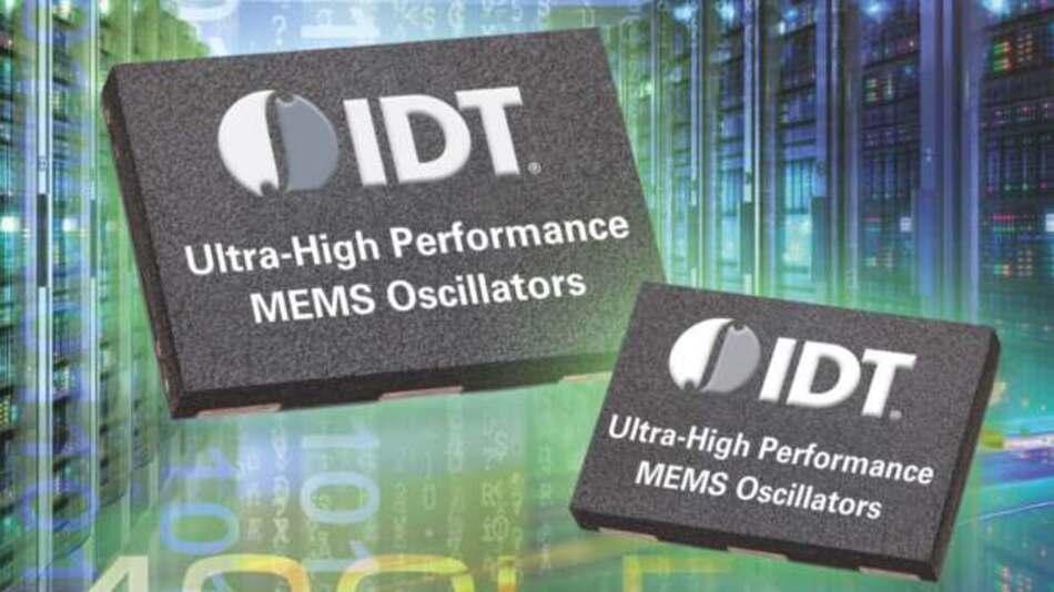 Mit einem Phasenjitter von 100fs und integriertem Frequenz-Margining empfehlen sich die weltweit ersten differenziellen MEMS-Oszillatoren u.a. für den die Bitfehlerrate reduzierenden Einsatz in 10- und 40-GBit-Ethernet-Applikationen.