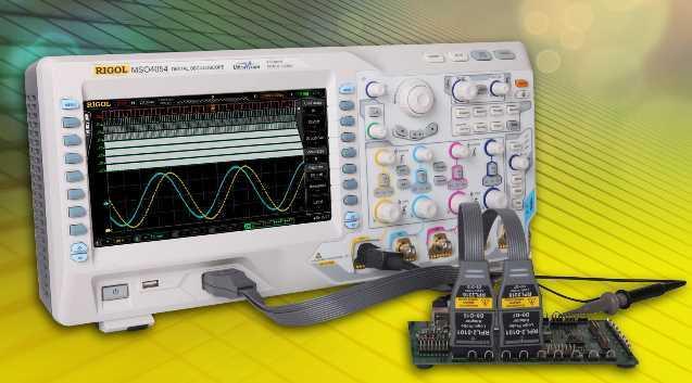 Alle Modelle der DS4000-Serie von Rigol sind mit einem 9-Zoll-Farbbildschirm ausgestattet