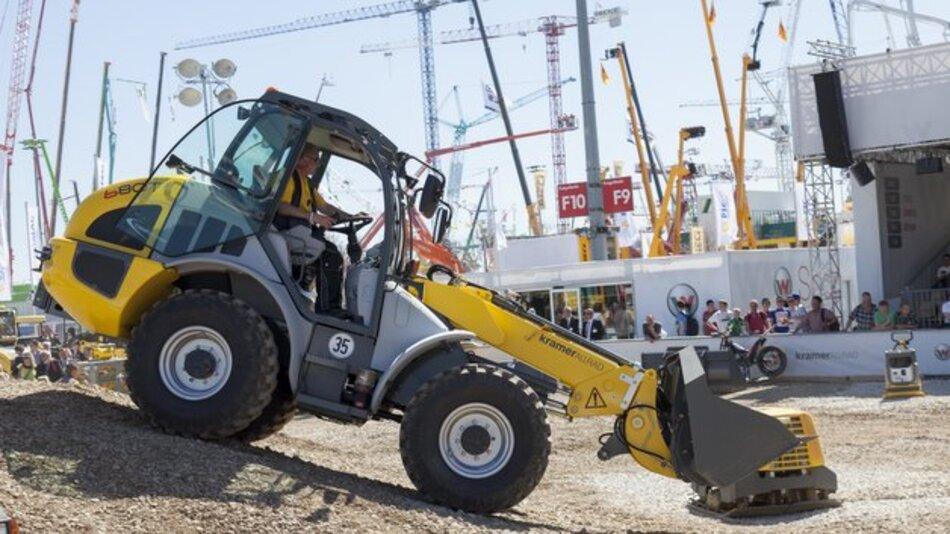 Die Baumaschinen-Branche trifft sich auf der bauma, die vom 15 bis zum 21 April 2013 in München stattfindet.