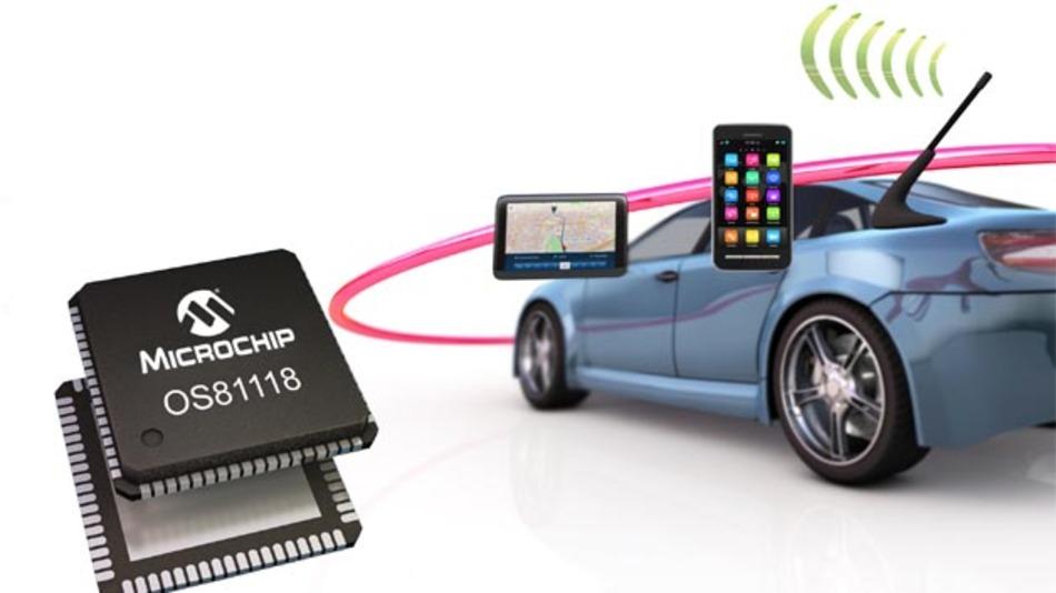 Der Netzwerk-Schnittstellen-Controller OS81118 von Microchip.