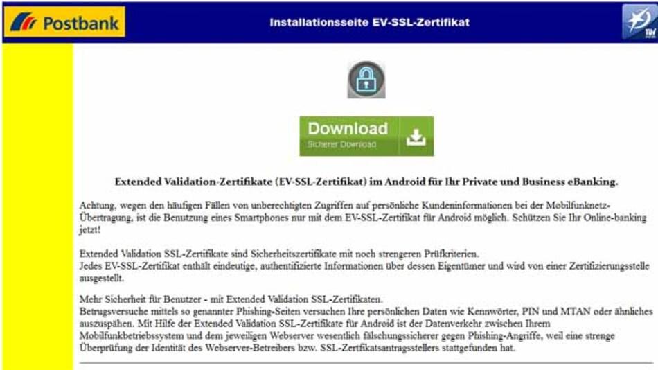 Wer die Anweisungen dieser gefälschten Webseite befolgt, macht es Cyber-Kriminellen leicht.