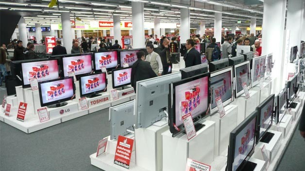 PC-Verkaufsfläche im Mediamarkt.
