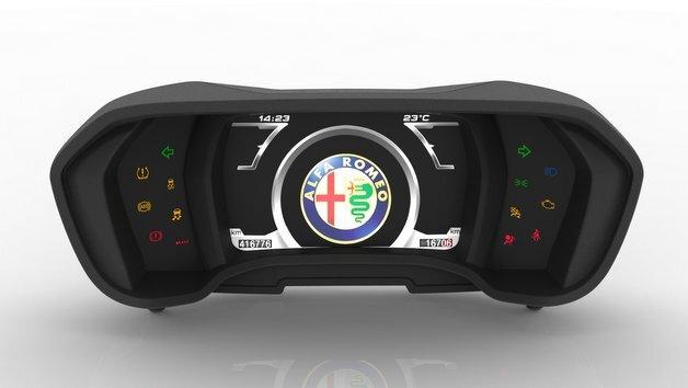 Cockpit-Display im Alfa Romeo 4C.