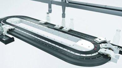 Beckhoff, Kombination rotarischer und linearer Servoantriebe P