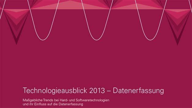 Der Technologieausblick 2013 Datenerfassung steht als pdf zum Download zur Verfügung.