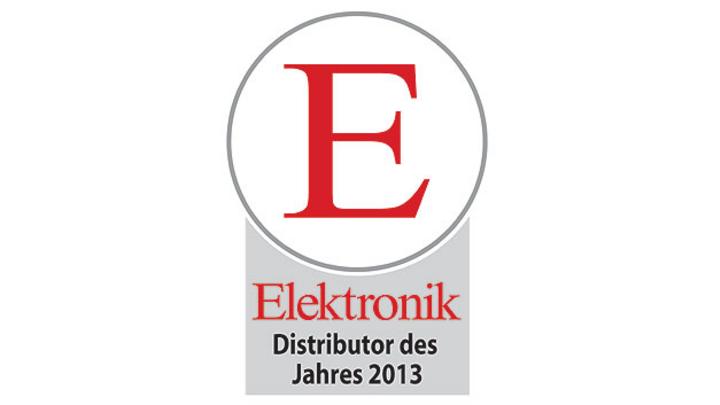 Leserwahl zum Elektronik-Distributor des Jahres 2013