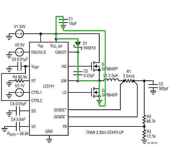 Bild 4: So lädt sich der Boost-Kondensator C wieder auf