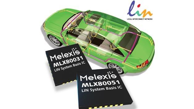 LIN-Kommunikations-ICs mit integrierter Spannungsregelung und Watchdog-Funktion von Melexis.