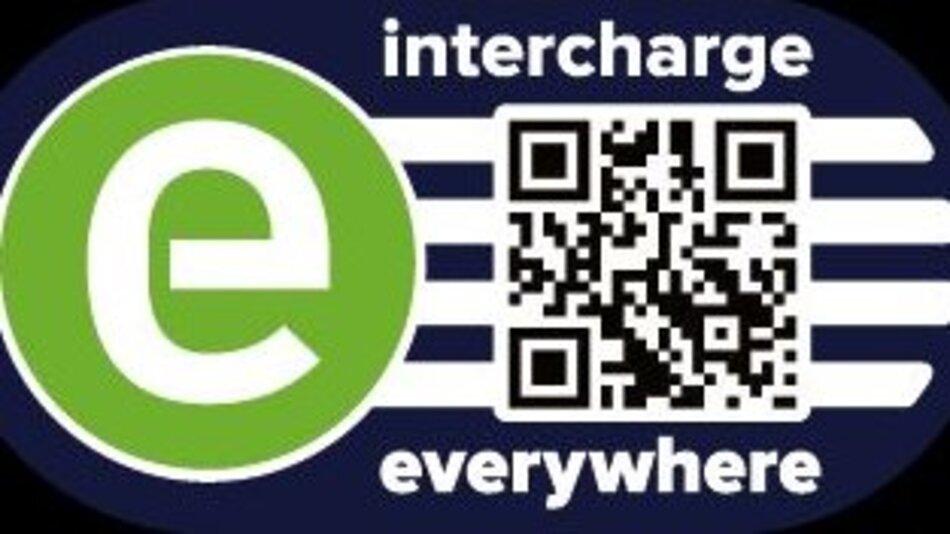Das intercharge-Logo kennzeichnet Ladestationen, die an das eRoaming-System von Hubject angebunden sind.