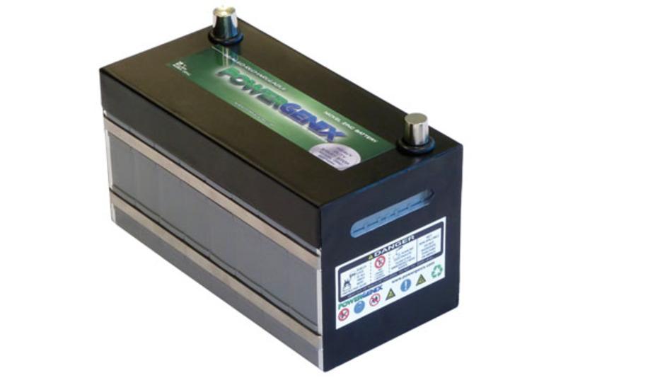 Bild 1. Ein 12-V-Akku für Start-Stopp-Systeme von PowerGenix mit einer Kapazität von 40 Ah.