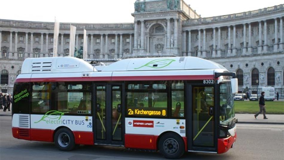 Bis zum Sommer 2013 will der Wiener Nahverkehrsbetreiber zwei Citybuslinien komplett auf elektrischen Betrieb umstellen.
