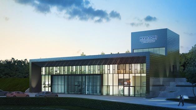 Soll im August eröffnet werden: Hyundais neues Testzentrum am Nürburgring.
