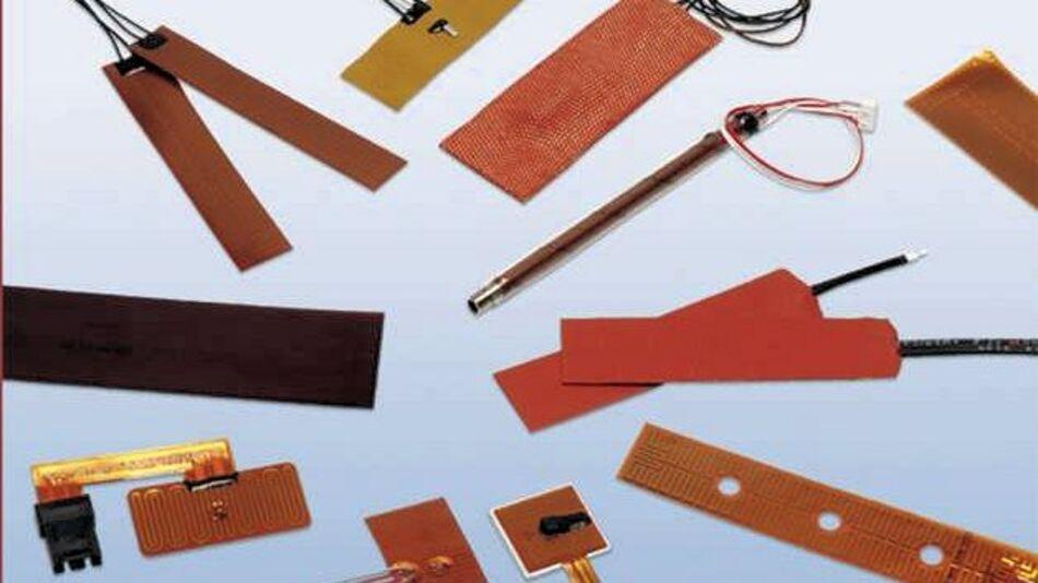 Heizfolien mit Abmessungen von 6,35 x 6,35 mm bis 254,0 x 381,0 mm