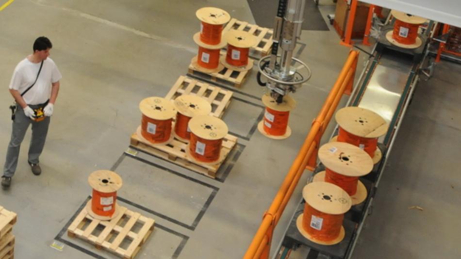 Das neue Logistikzentrum von Lapp in Ludwigshafen verfügt über ein patentiertes Transportsystem.