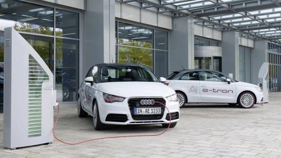 "Der Audi A1 e-tron bei den ""Schaufensterprojekten Elektromobilität""."