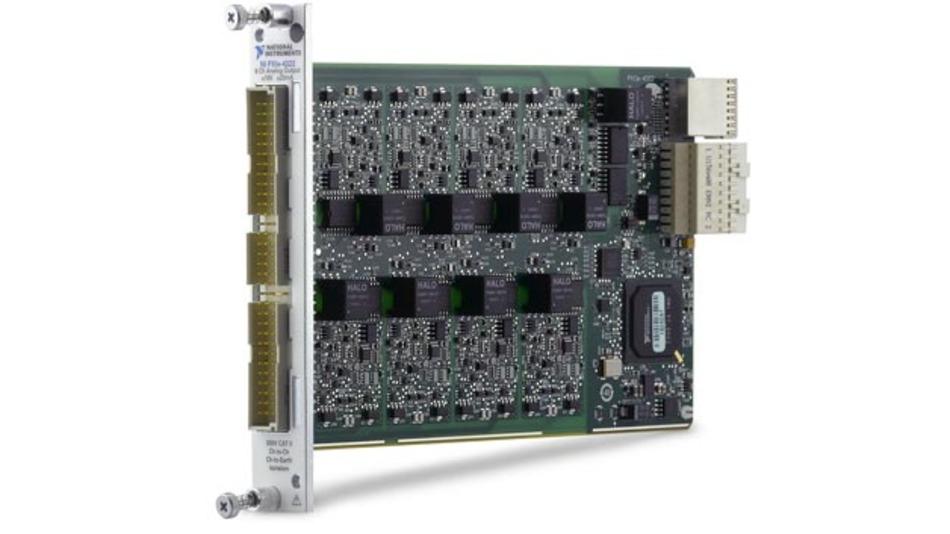 Das PXIe-4322 kann bis zu 16 V oder 20 mA pro Kanal zur Verfügung stellen.