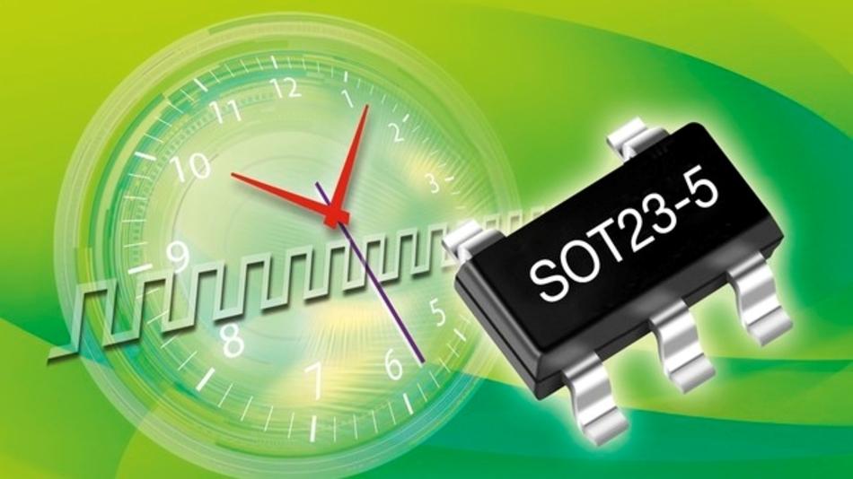 Single-Chip-Taktgeber mit einem Ausgang und integriertem MEMS-Resonator
