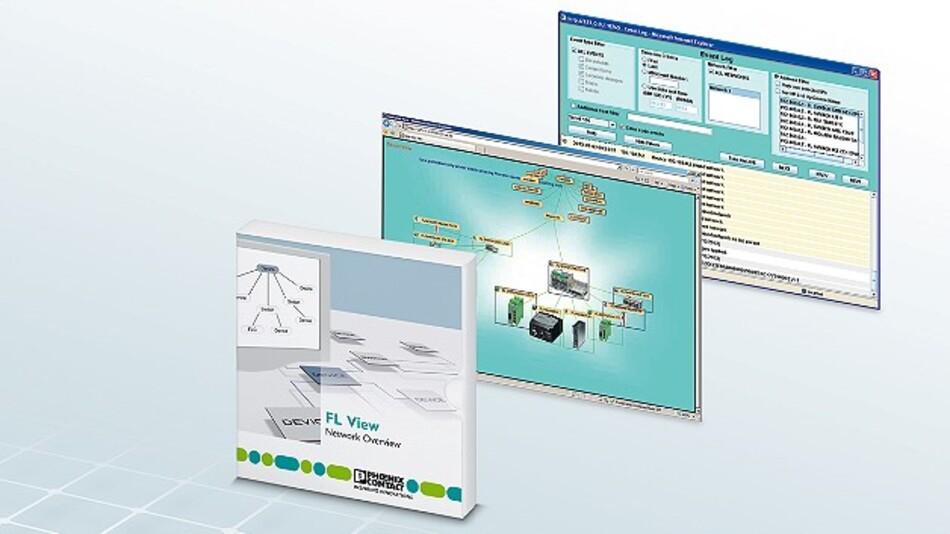 Auf einem Browser beruht die Monitoring- und Diagnose-Software »FL View« von Phoenix Contact.