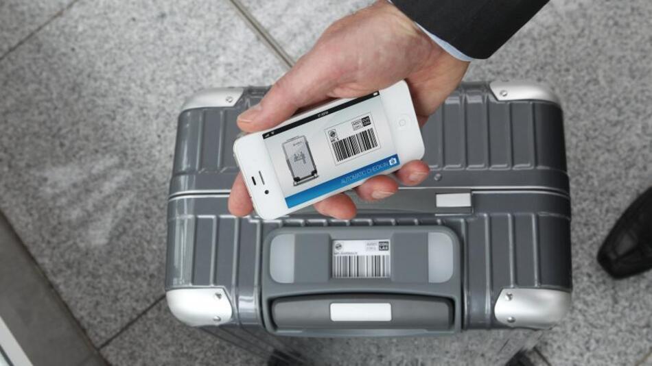 Airbus, T-Systems und Rimowa haben gemeinsam das »Bag2Go«-konzept entwickelt.