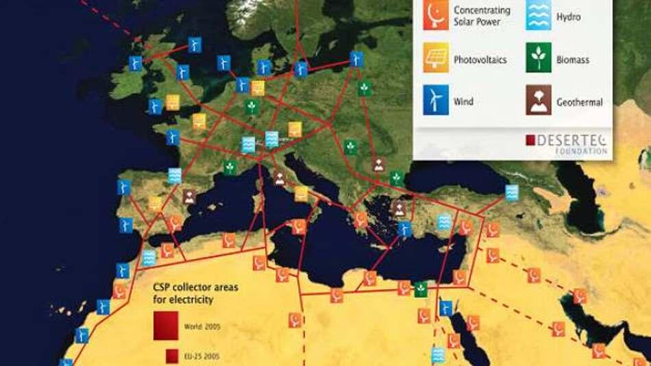 Das ursprünglich geplante EU-MENA-Super Grid