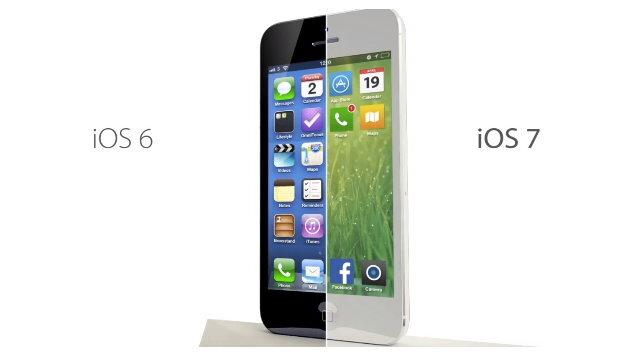Das Design von iOS7 wurde grundlegend überarbeitet.