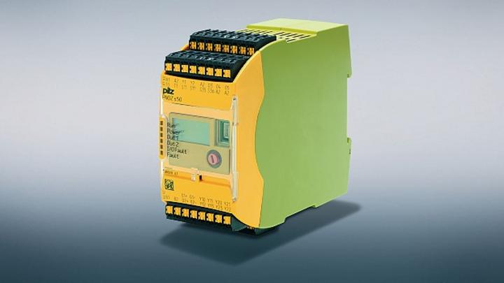 Mit dem Sicherheitsrelais »PNOZ s50« lassen sich bis zu zwei Halte- oder Sicherheitsbremsen vertikaler Achsen kontaktlos und sicher ansteuern.