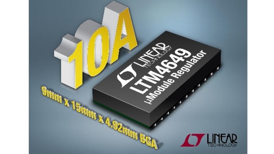 Der »µModule«-Abwärtswandler »LTM4649« im kompakten BGA-Gehäuse