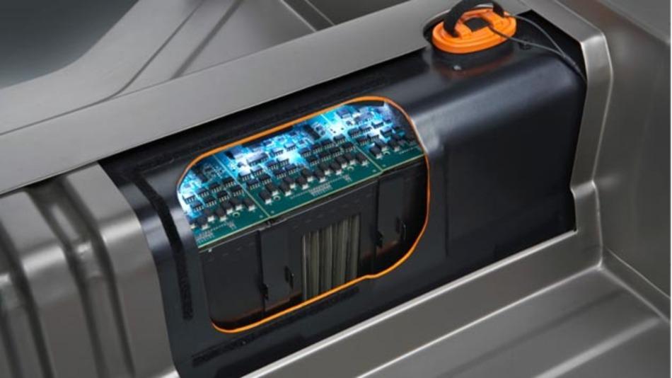 Die für den Opel Ampera entwickelte Lithium-Ionen-Hochleistungsbatterie.