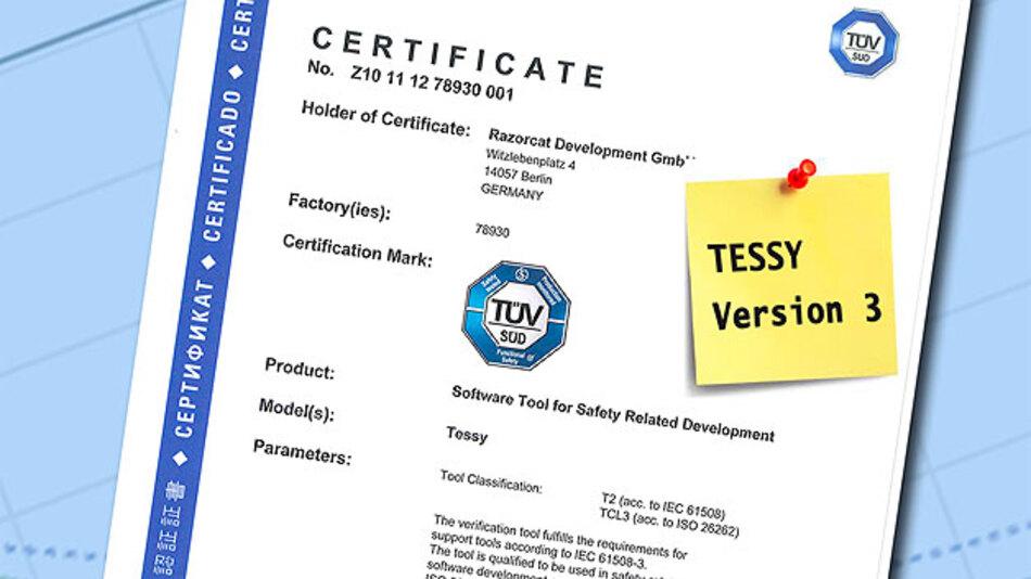 Das Werkzeug für automatisierte Modul- Unit- und Integrationstests Tessy wurde erneut nach IEC 61508 und ISO 26262 qualifiziert und ist bei Hitex Development Tools erhältlich.